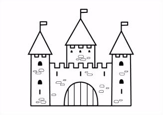 Kleurplaat kasteel 2 color pages Pinterest