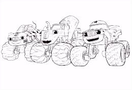 Resultado de imagen de blaze and the monster machines coloring pages
