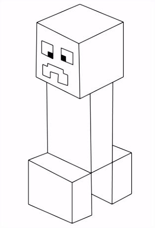 Minecraft Creeper kleurplaat