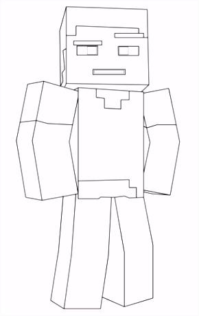 Kleurplaten Minecraft Minecraft Steve Kleurplaat I7jg07xxz9 L4zevmdaw6