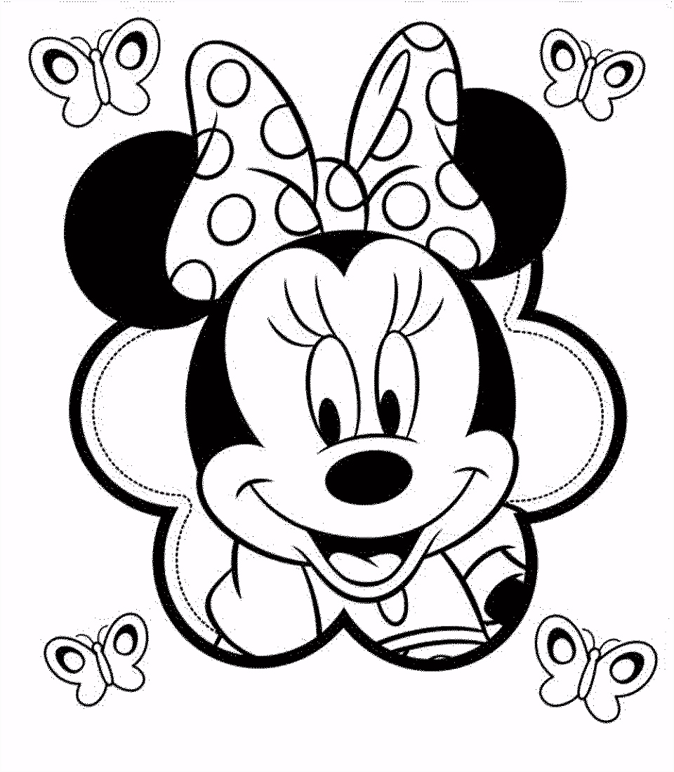 Coloring Minnie Mouse