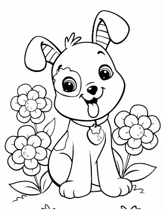 Image result for free dog coloring pages Color