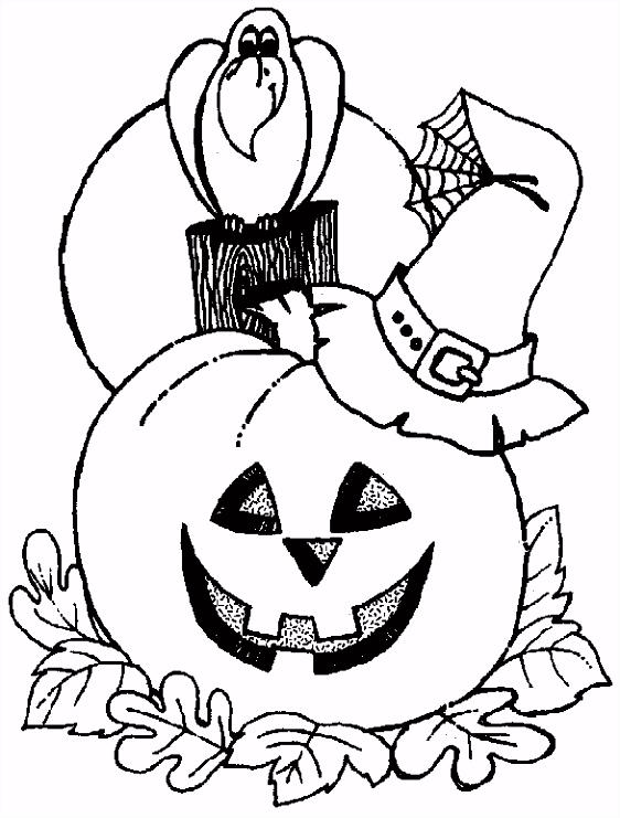 Kleurplaat Halloween pompoen Halloween Coloring Pages