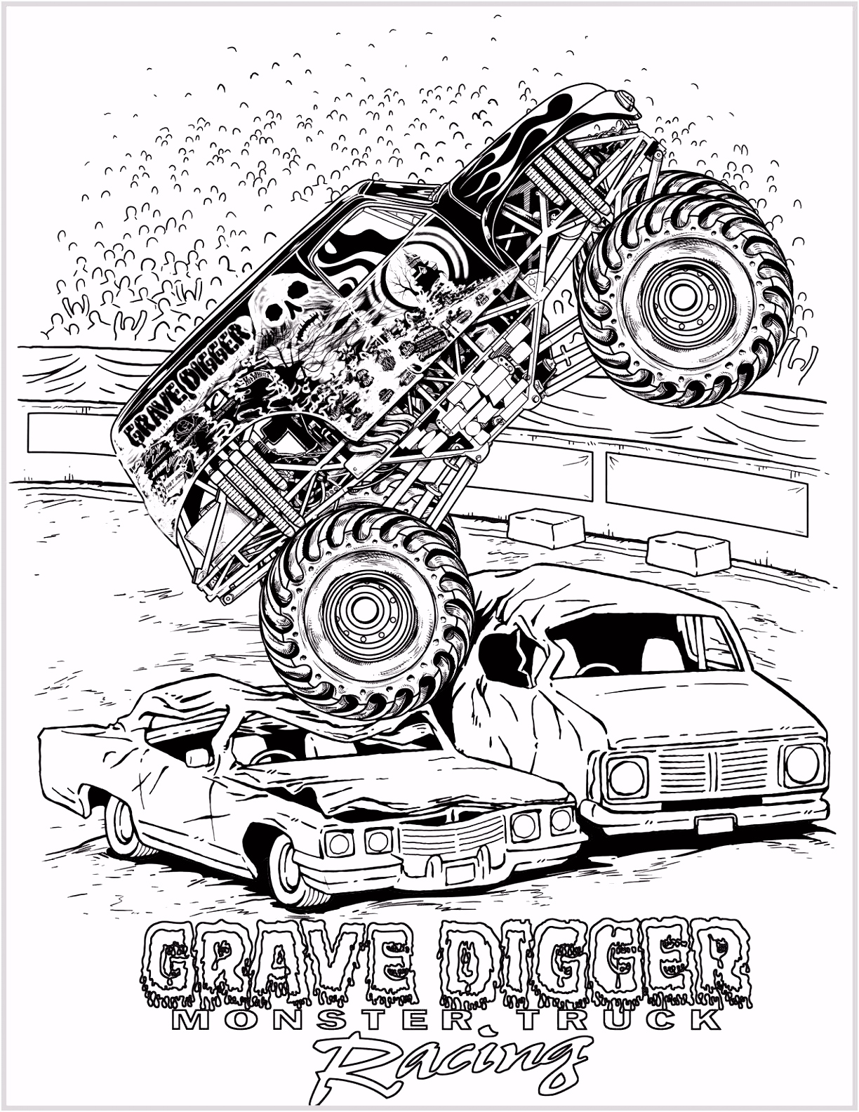 Monster Trucks Coloring Pages Construction Coloring Pages Tipper