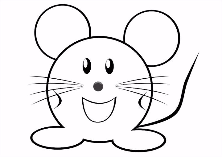 Kleurplaat muis Afb