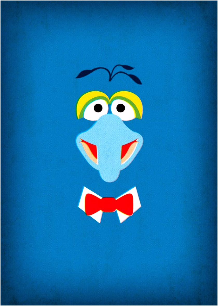 Muppets Poster Gonzo Nursery Art Instant Download por TheRetroInc