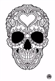 55 Fantastisch Skelet Kleurplaat Afbeeldingen