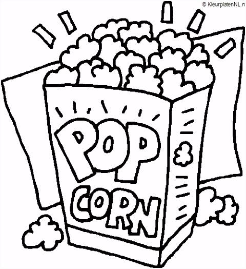 Kleurplaten line Eenvoudig Eten Kleurplaat Popcorn 1967 Kleurplaat
