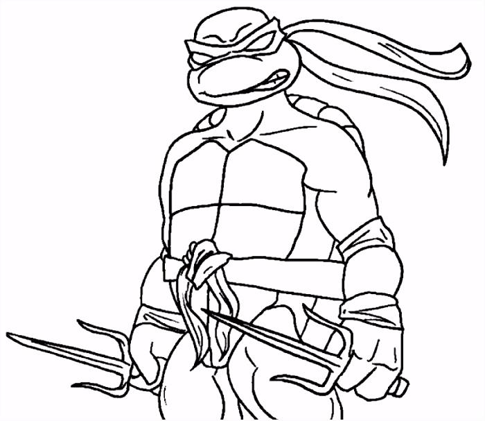 Raphael ninja turtle coloring page