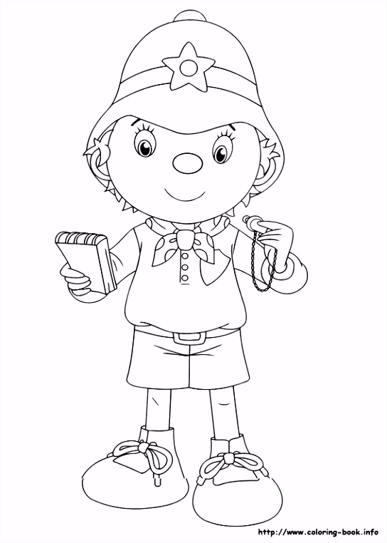 Noddy coloring picture Drawing Pinterest
