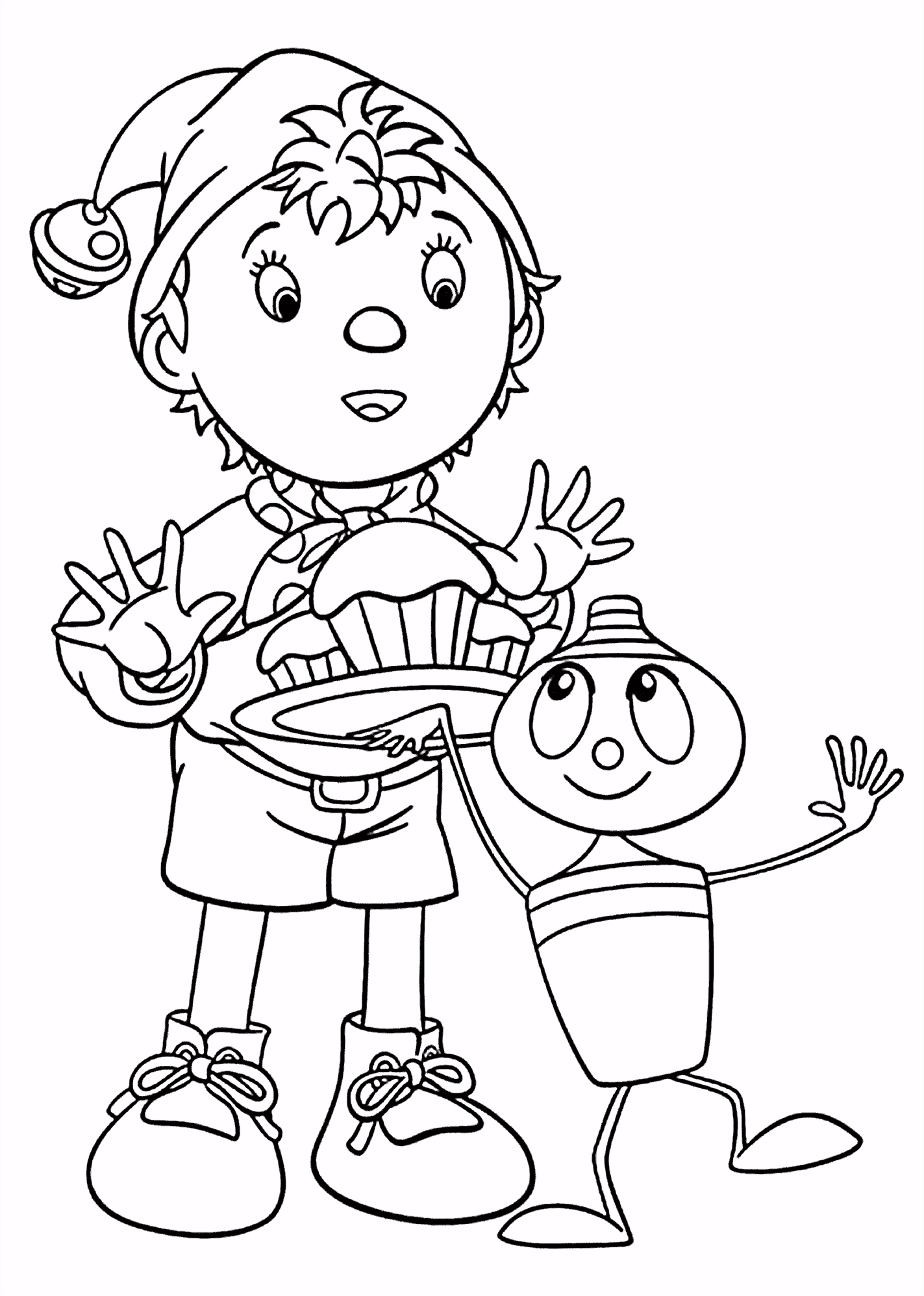 Top 10 Noddy Coloring Pages For Toddlers