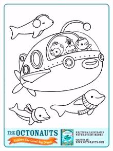 lots of octonauts printables make a coloring book