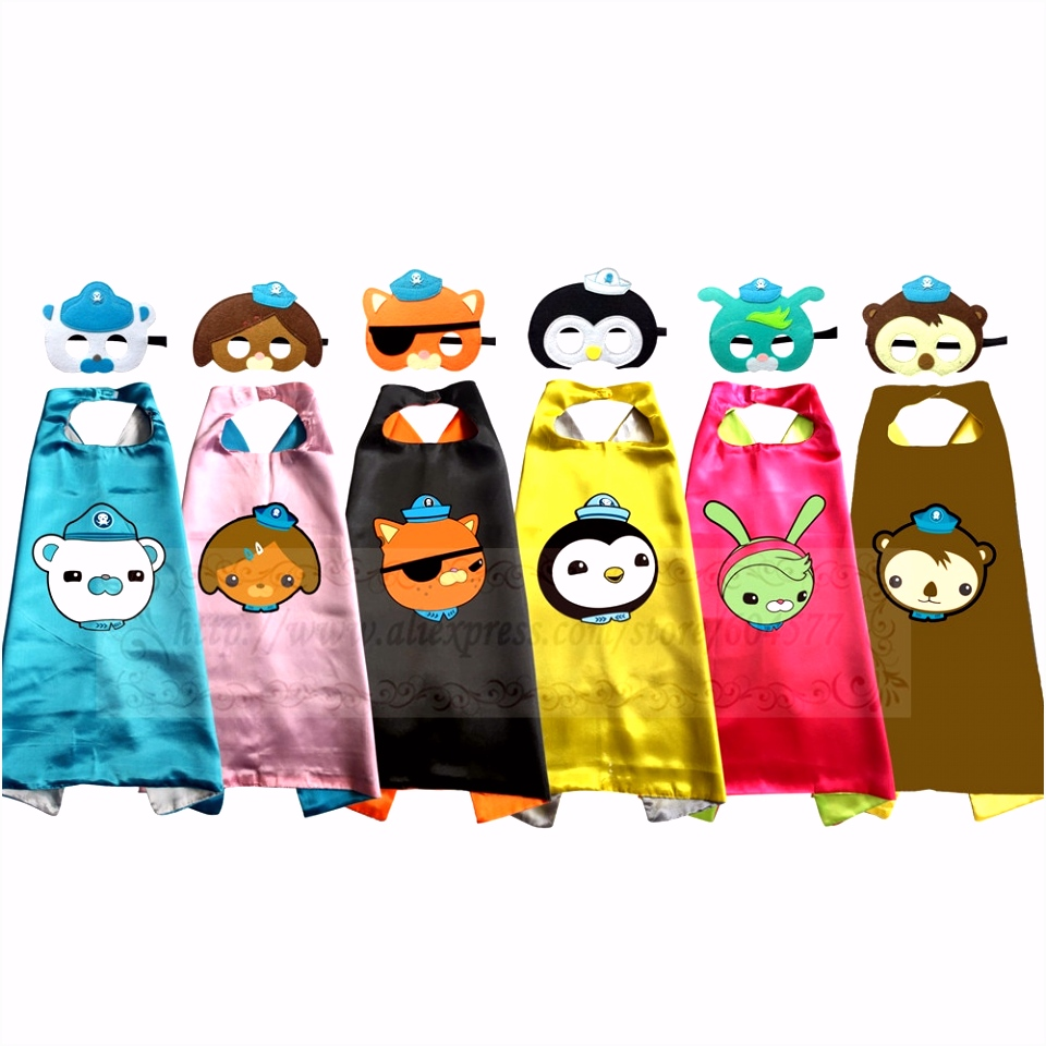 Octonauts Costumes Cape with Mask for Kids Birthday Party Favor