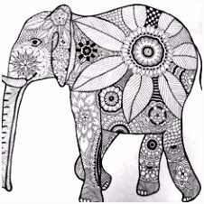 528 beste afbeeldingen van coloring elephant in 2018 Doodles