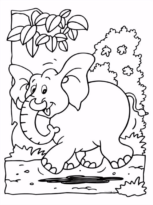 Kleurplaat Olifant Met Hart ARCHIDEV