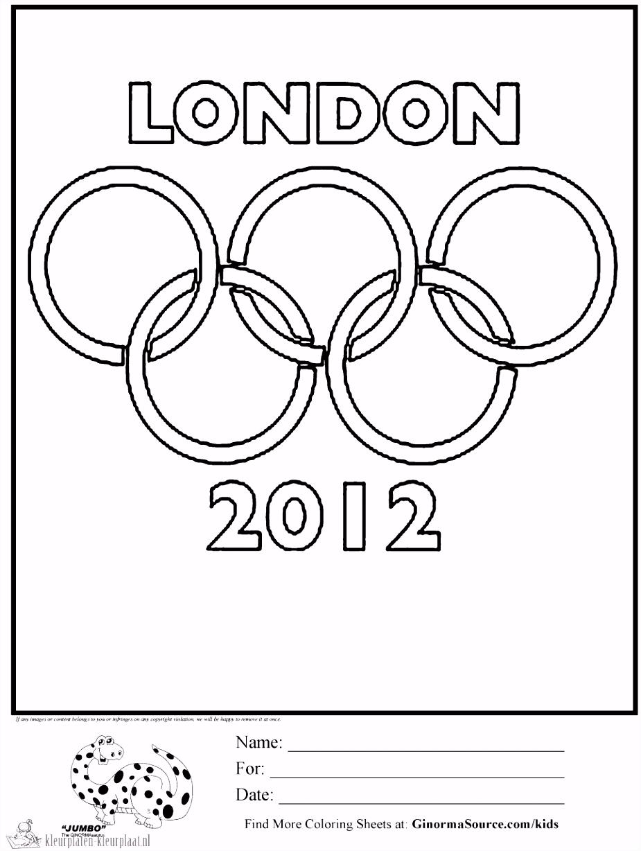 Kleurplaten olympische spelen