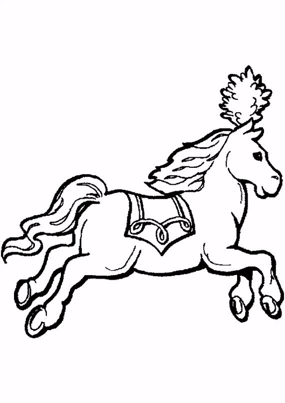 Kleurplaten Circuspaarden ARCHIDEV