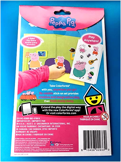 Amazon Colorforms Peppa Pig Toys & Games