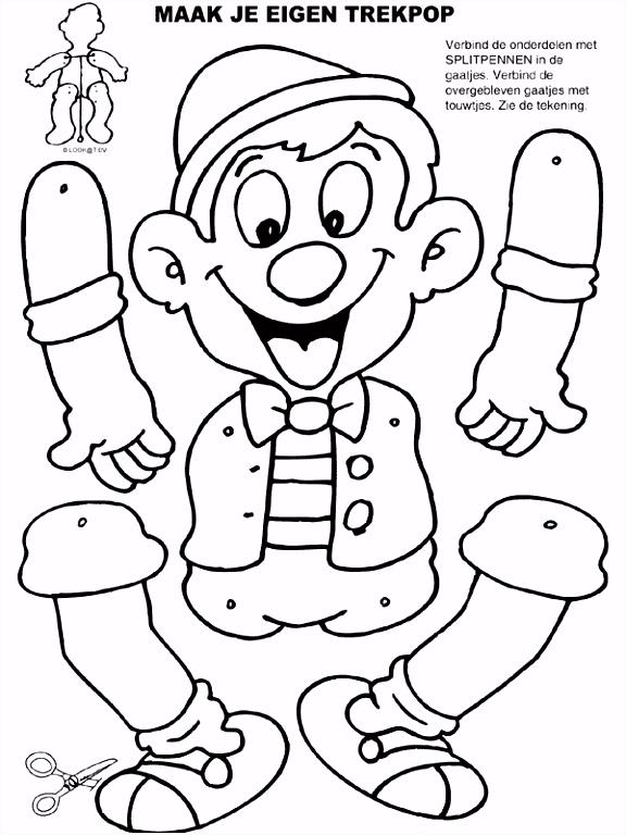Kleurplaat Trekpop Pinokkio Kleurplaten