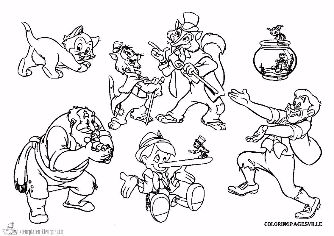 Pinokkio Kleurplaat ARCHIDEV