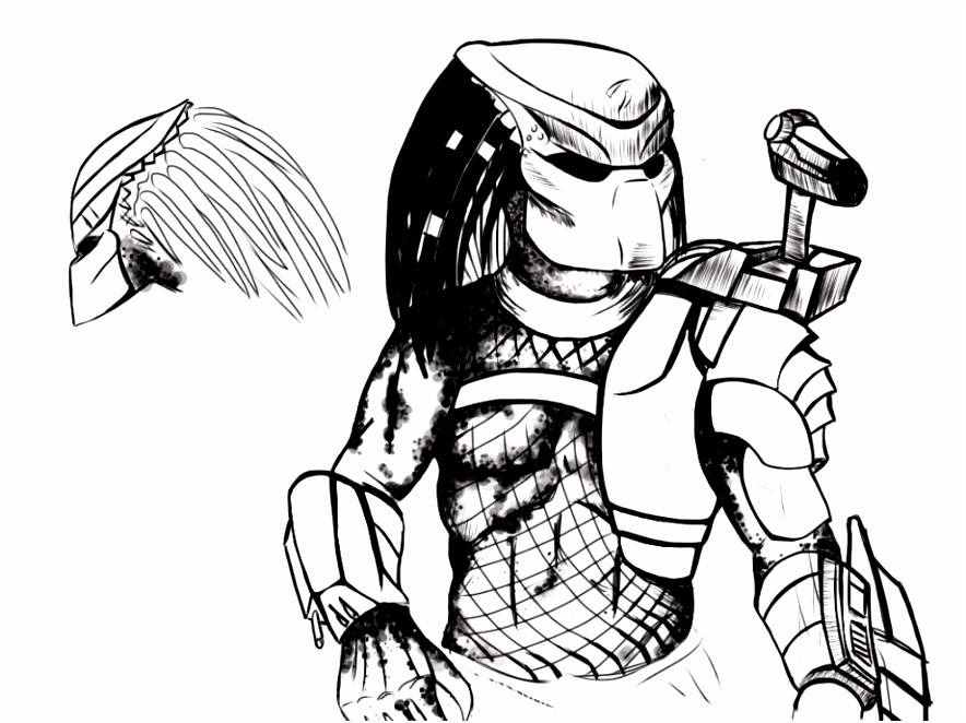 Predator Coloring Pages Coloring Pages Pinterest