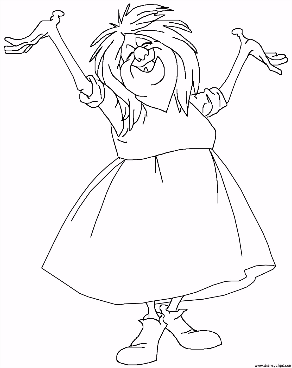 The Sword in the Stone Madam Mim coloring page