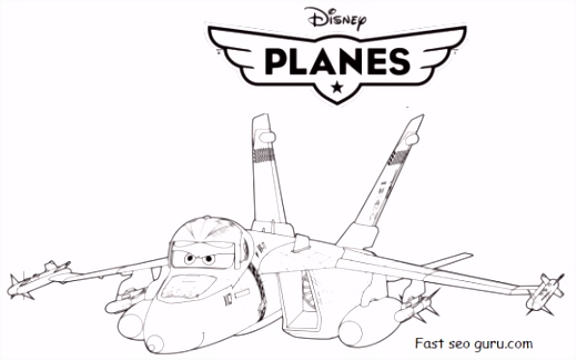 Printable disney Planes Bravo and Echo Coloring Pages Printable