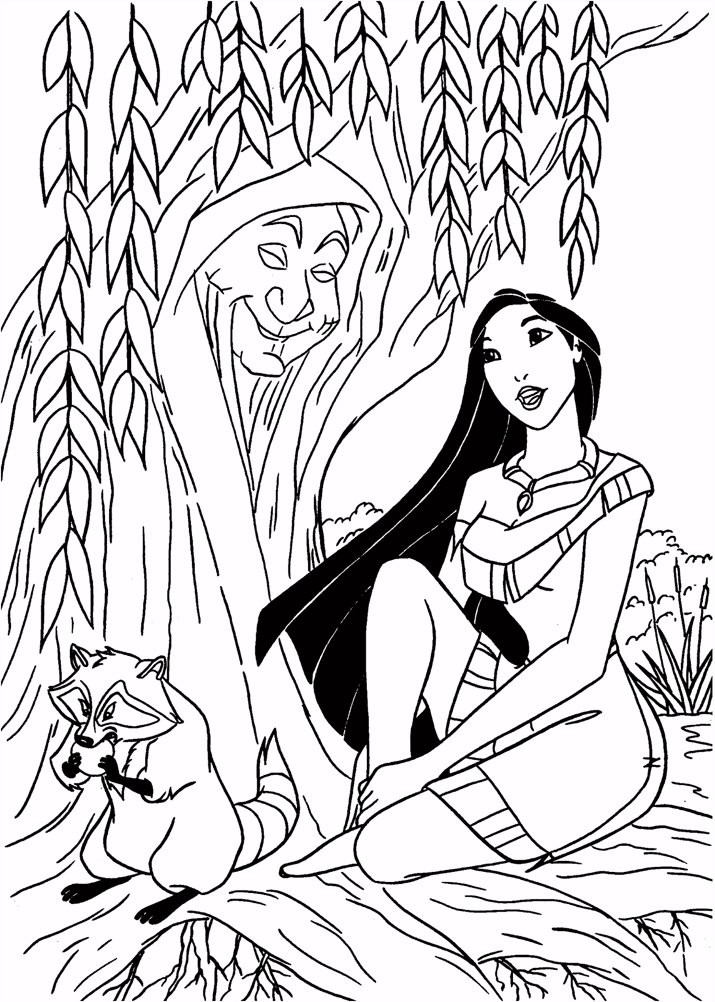 Pocahontas coloring pages for kids printable free
