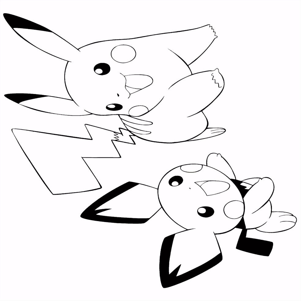 Pikachu Kleurplaten Eenvoudig Beste Van Pokemon Paradijs Kleurplaten