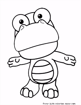 Printable Disney Pororo the Little Penguin Crong coloring pages