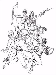 Aneka Gambar Mewarnai Gambar Mewarnai Power Ranger Untuk Anak PAUD