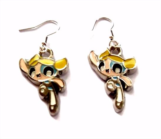 Powerpuff Girl Earrings Bubbles Jewelry Pinterest