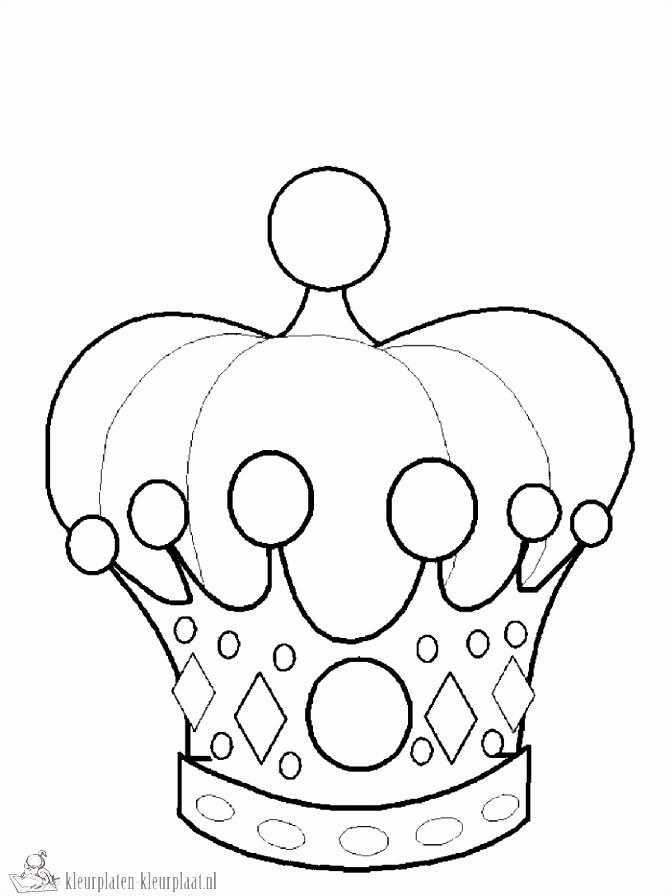 Kleurplaat Kroon Koningsdag ARCHIDEV