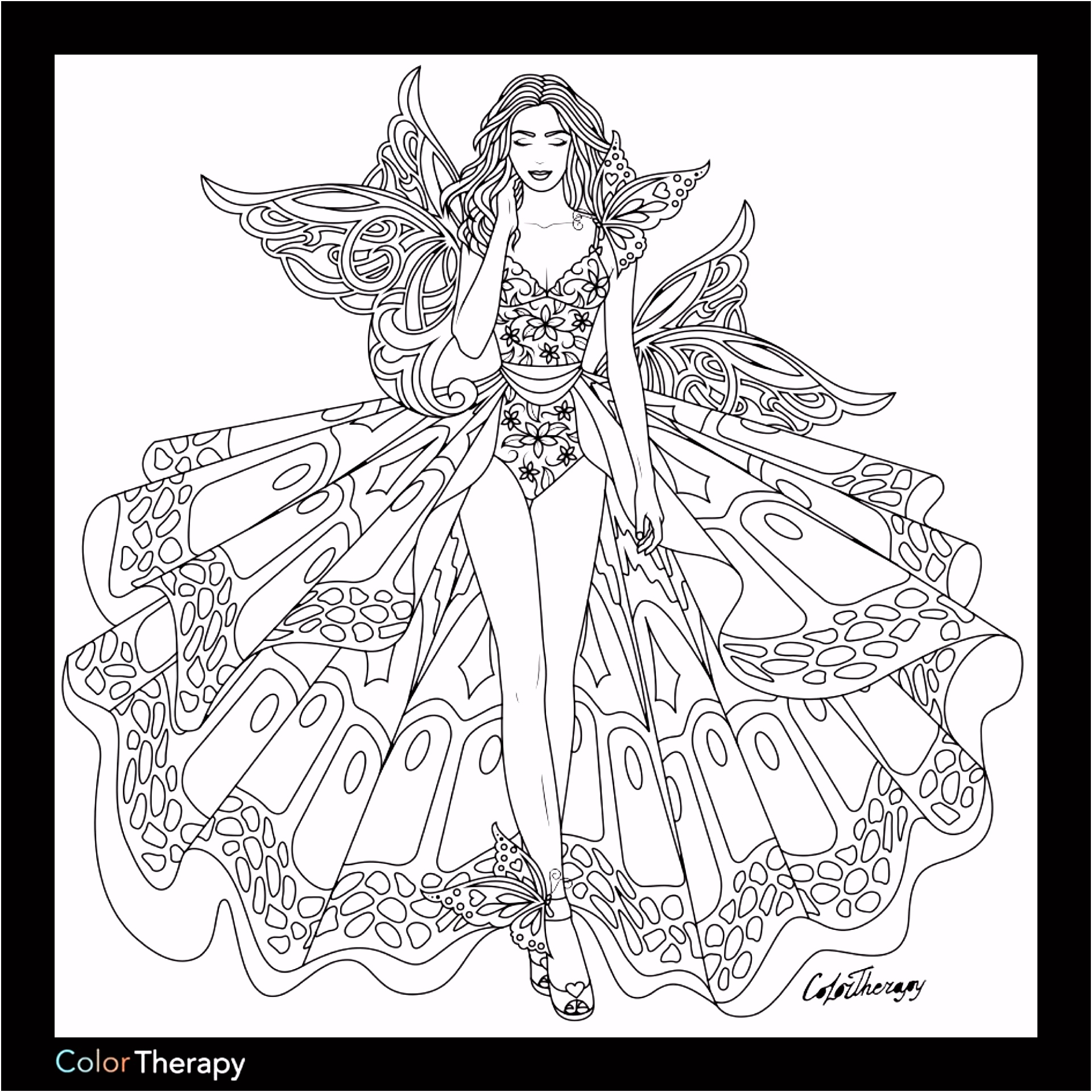 Fashion coloring page Coloring pages Pinterest
