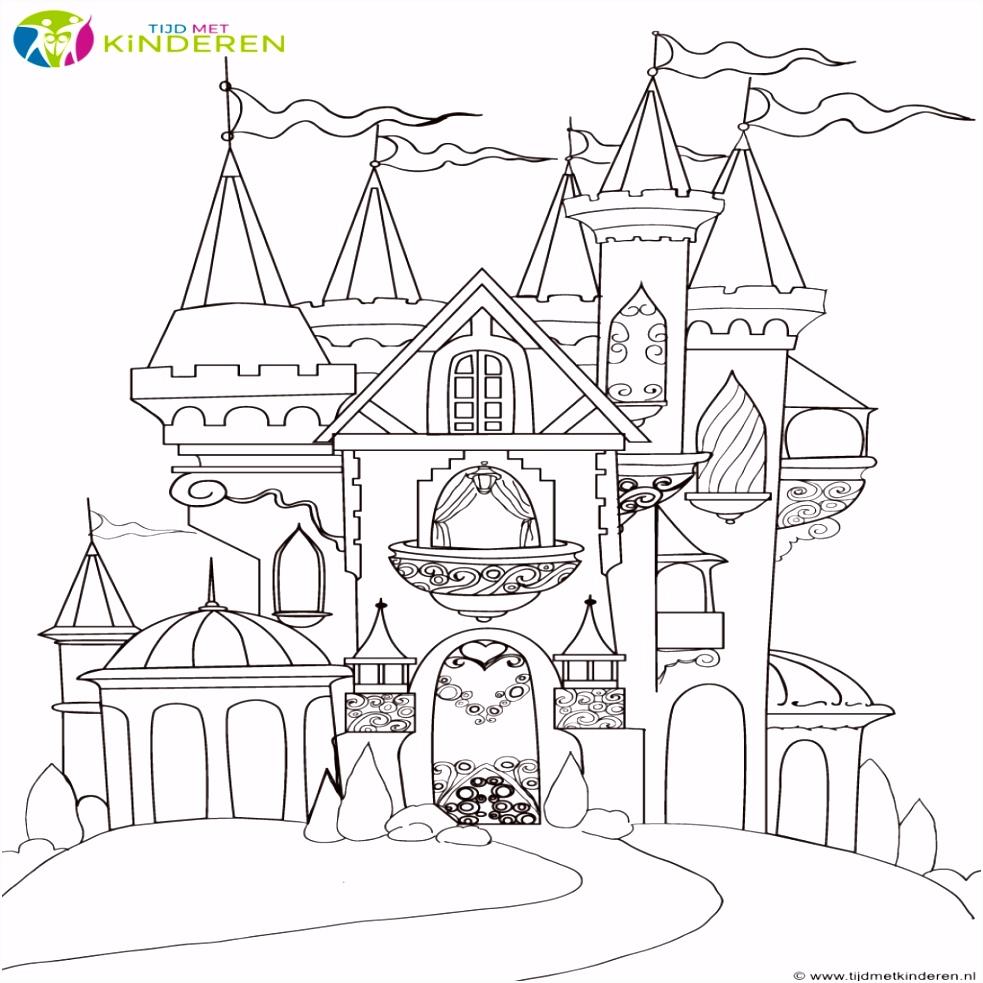 Kasteel Kleurplaten Nieuw Prinses Kasteel Kleurplaat – Werkbladen en