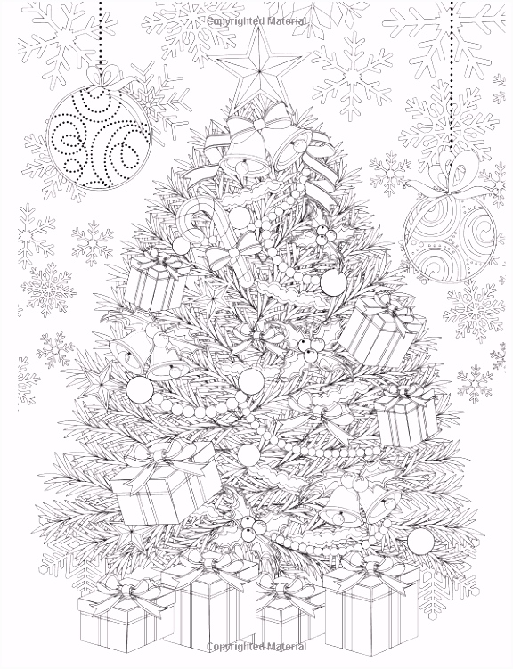 Adult Coloring Book Magic Christmas for Relaxation Meditation