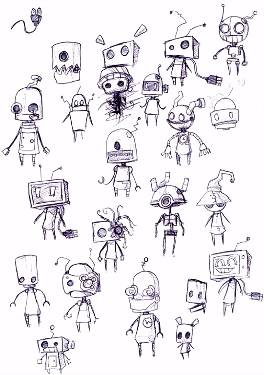 Robot Sketches looks like the robots from Machinarium