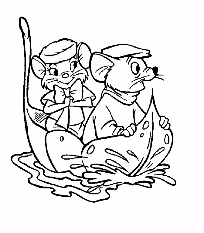 Kleurplaten Reddertjes the Rescuers Coloring Pages Coloringpages1001 Q6nc76efe5 Tseph5uhwh