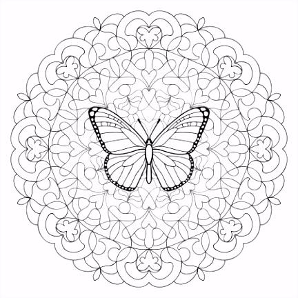 Mandala Kleurplaat Vlinder ARCHIDEV