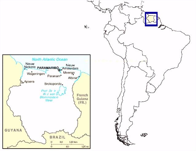 Suriname Alle informatie over reizen vakantie en wonen in dit land