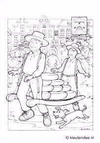 Coloring Alkmaar kleuteridee Alkmaar coloring Holland street