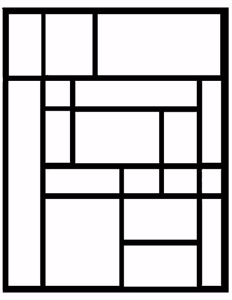 kleurplaat mondriaan Piet Mondrian in 2018 Pinterest