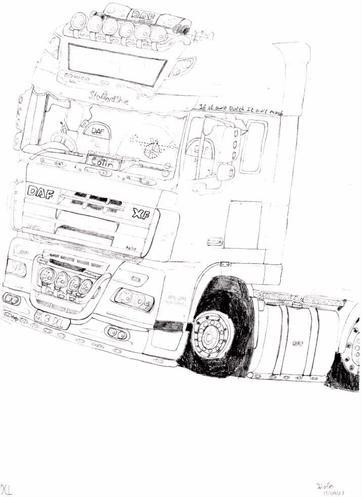 vrachtwagen kleurplaat volvo Google zoeken Werkatelier