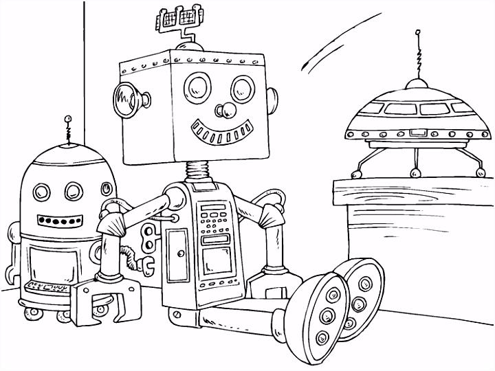 Kleurplaat speelgoed robot Afb