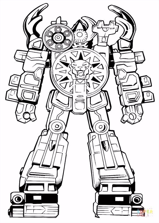 Robot Ranger kleurplaat