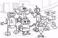 5 Kleurplaten Robots