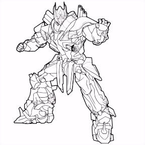 Transformers kleurplaten