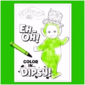 Teletubbies Coloring Page Dipsy