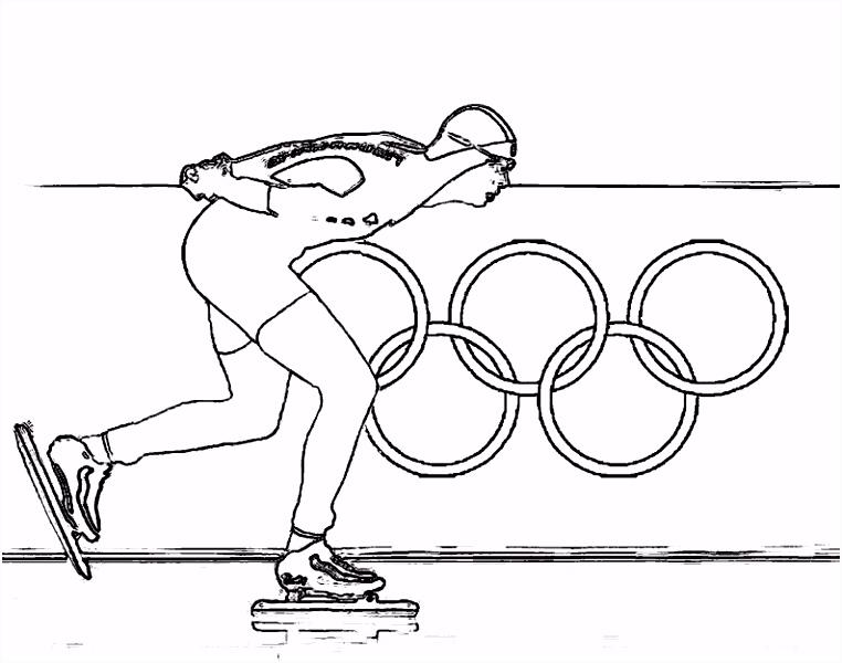 Schaatsen kleurplaten sven kramer olympische spelen