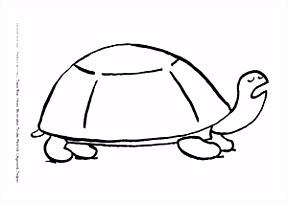 Kleurplaat De wedstrijd van Schildpad en Haas Bij het prentenboek